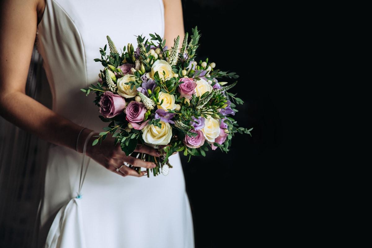 bridal bouquet at thornton hall hotel