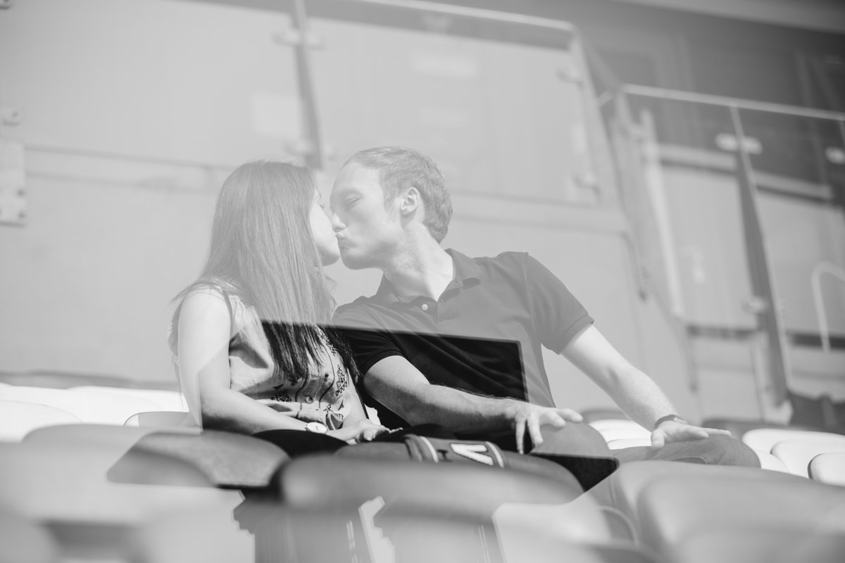 kissing in the stands at speedway