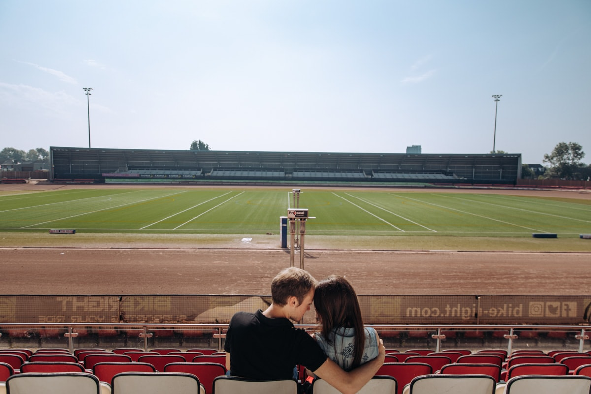 Engaged Couple at Speedway Manchester