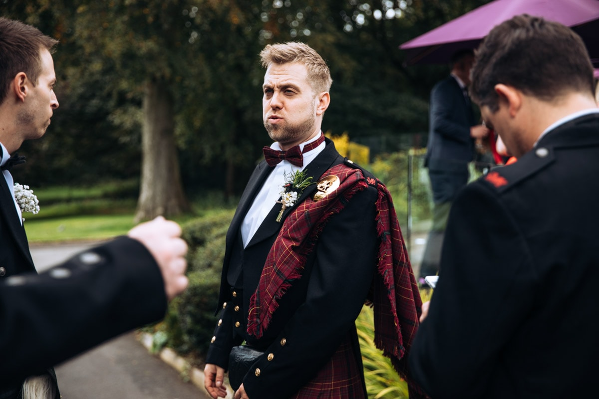 groom looking dapper