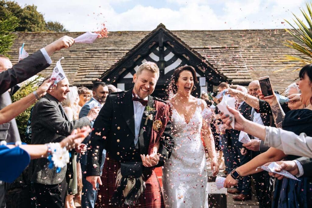 confetti at rivington barn
