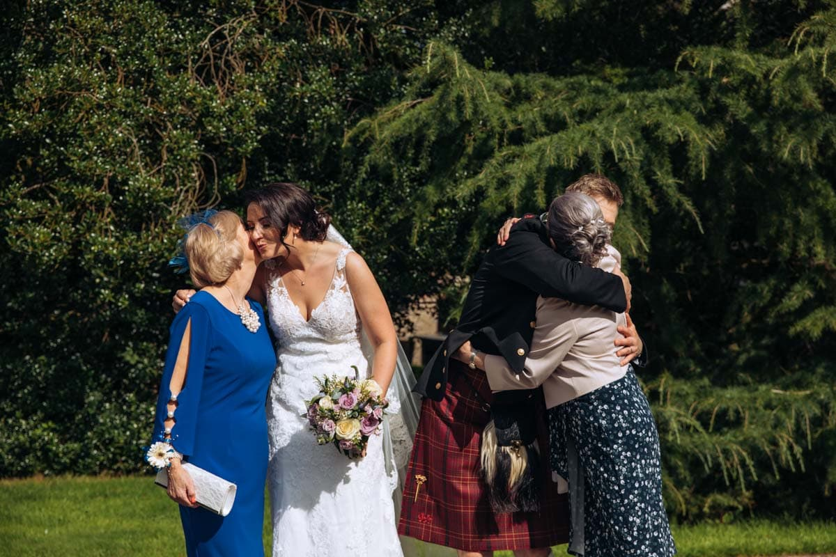 hugs from family at rivington barn