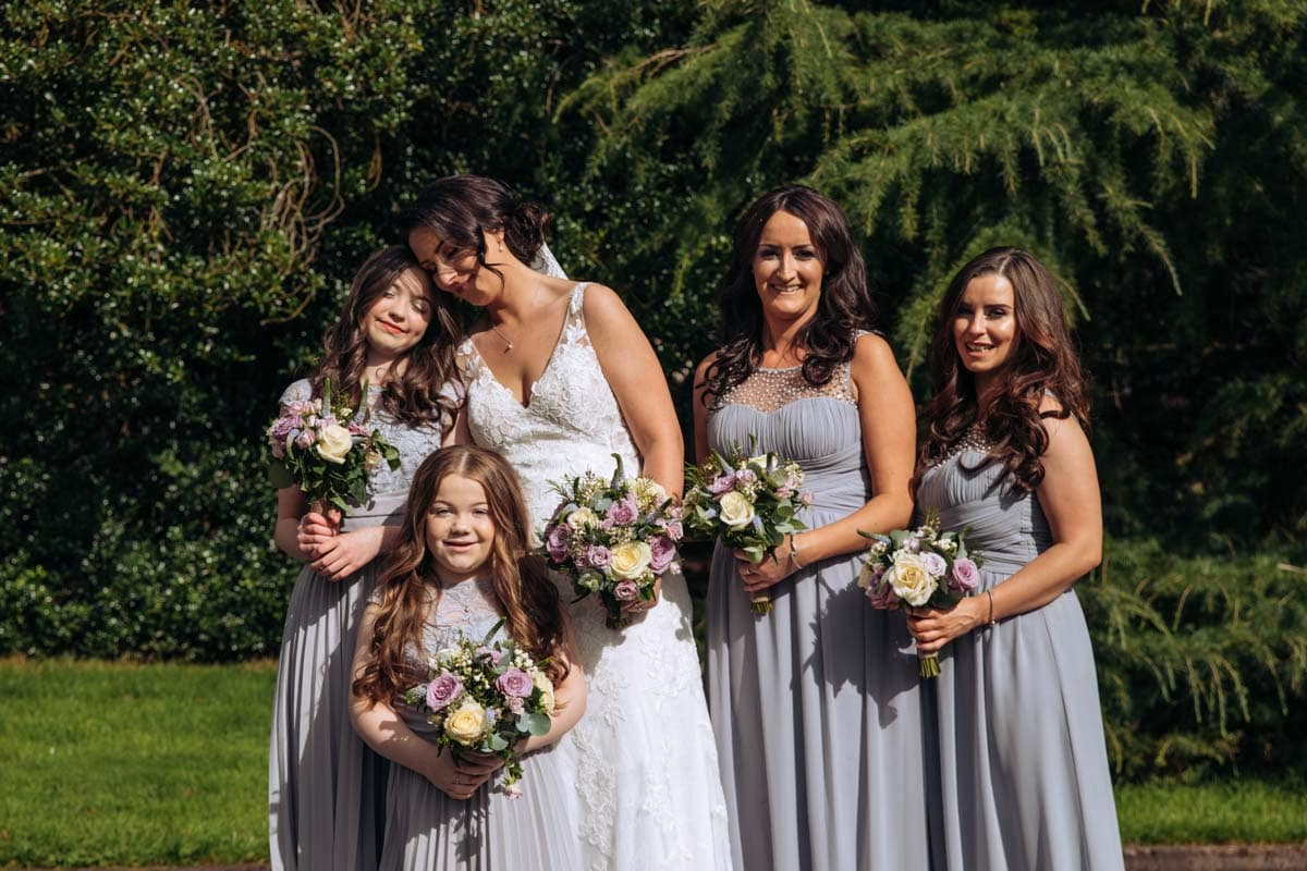 bridesmaids at rivington barn