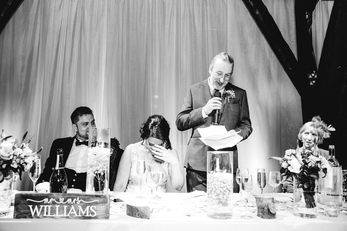 wedding speech at rivington barn