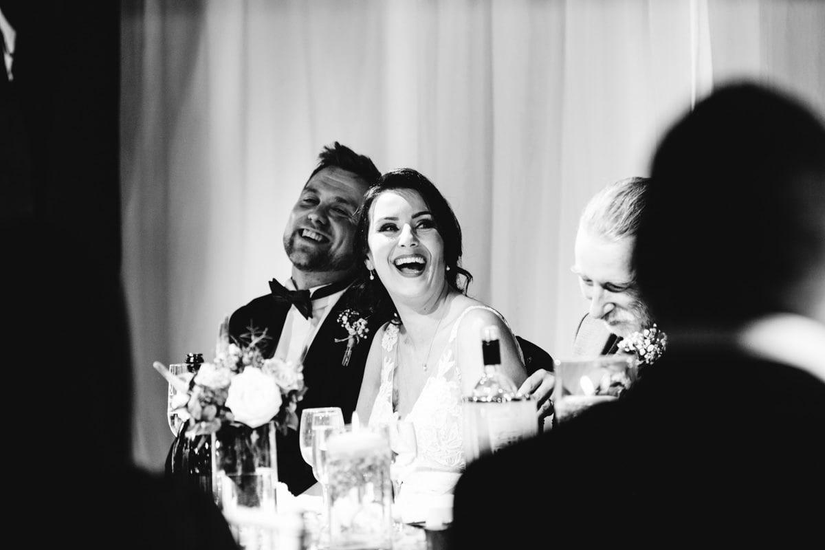 bride loving the speeches