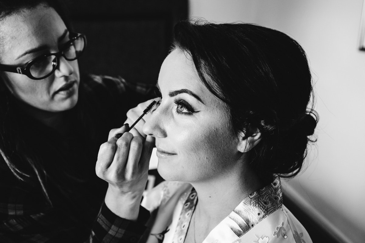 Bridal makeup in Lancashire