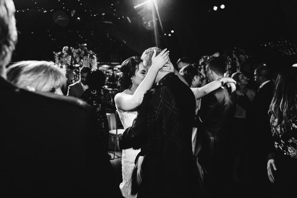 bride and groom dancing at rivington barn