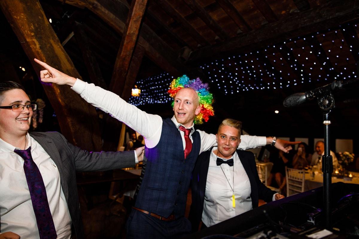 guests having fun at rivington barn