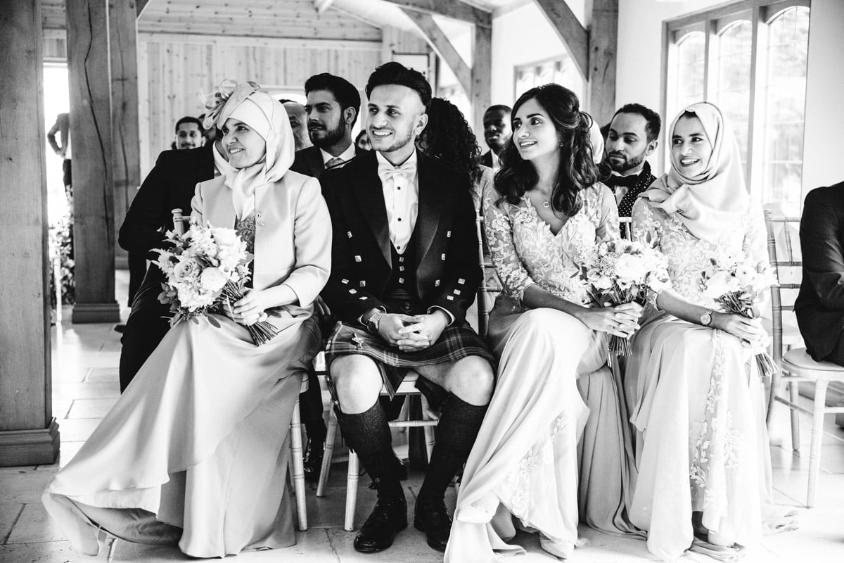 Wedding ceremony at Colshaw Hall Wedding Venue