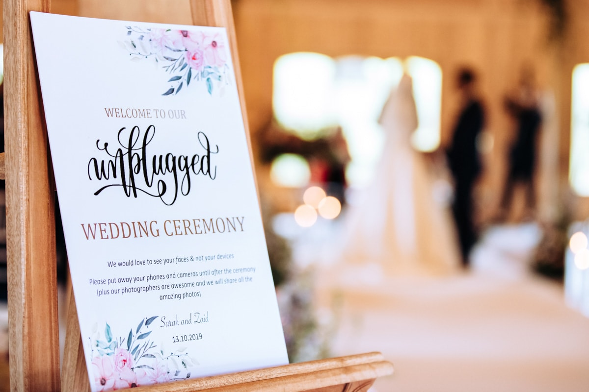 Unplugged ceremony at Colshaw Hall
