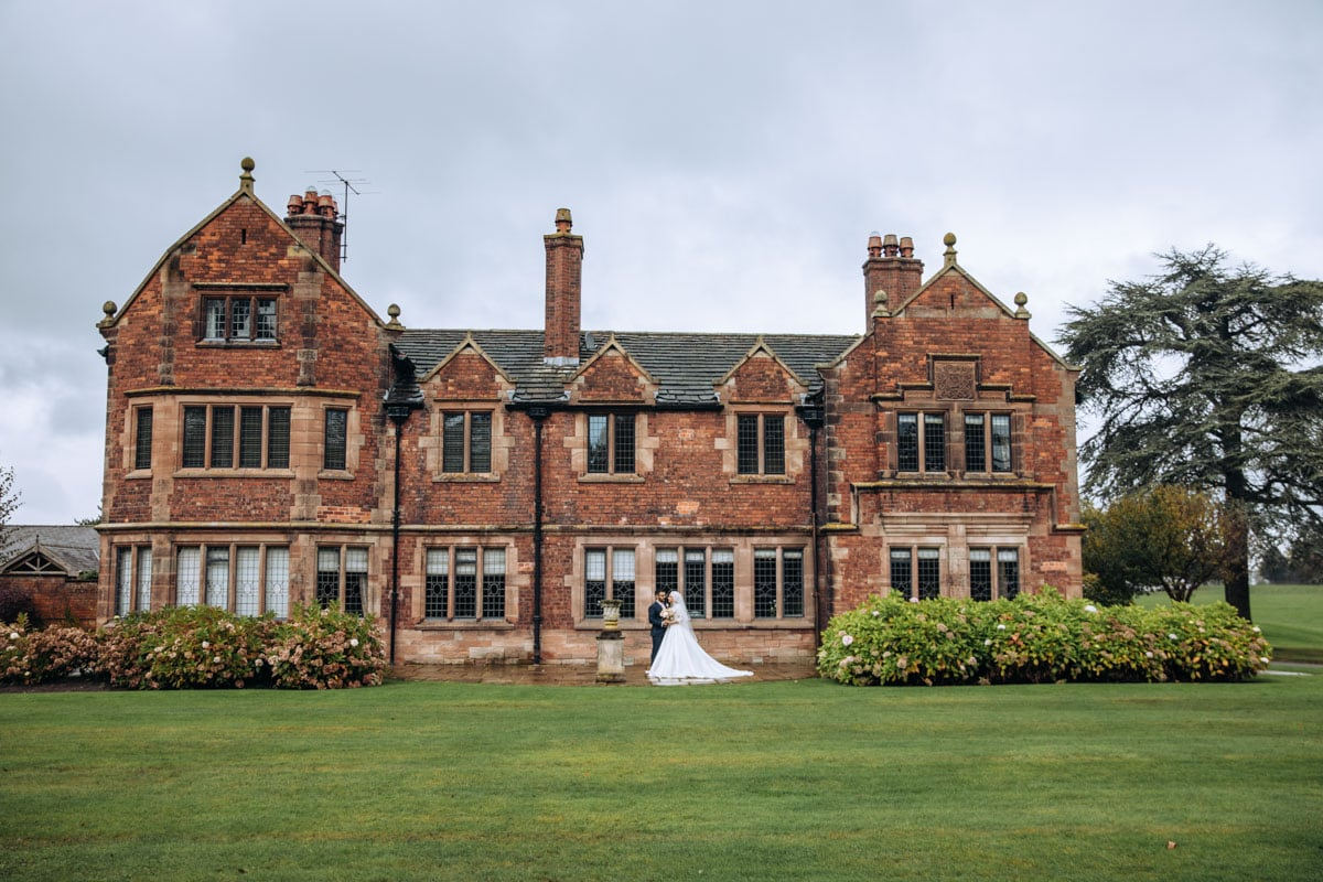Bride and Groom at Colshaw Hall in Cheshire