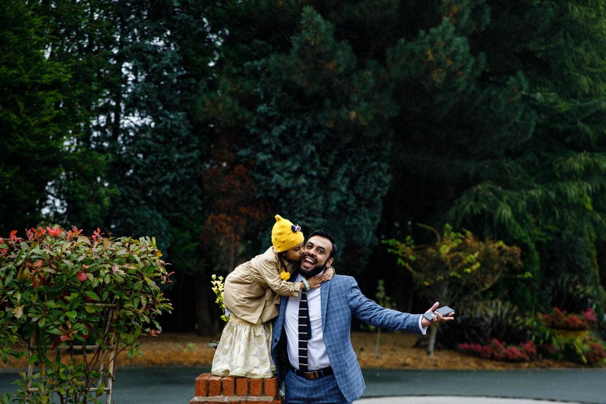 Fun photos at Colshaw Hall of wedding guests