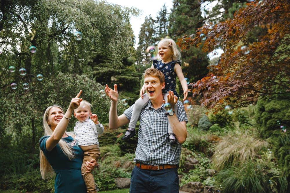 Fun Family Photo at Fletcher Moss Didsbury