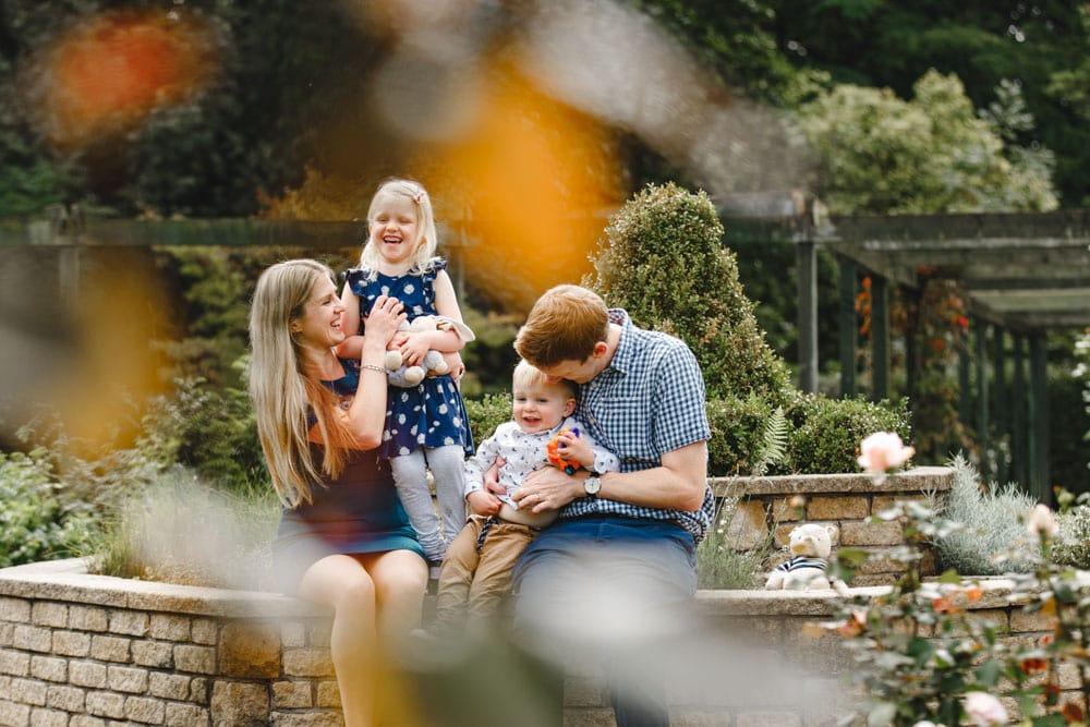 Family Portrait at Fletcher Moss Didsbury