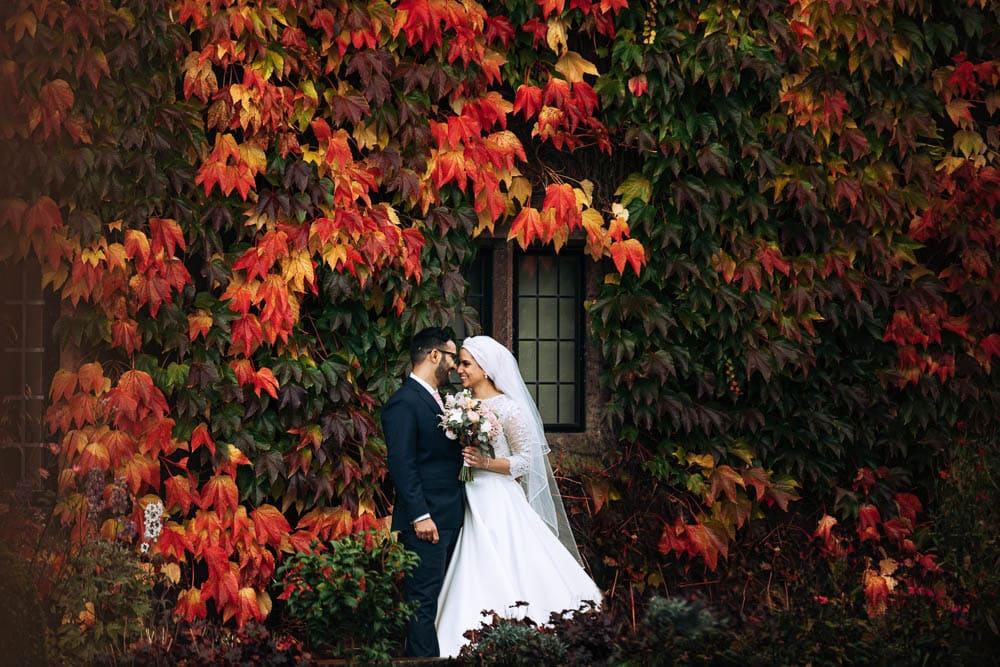 wedding in autumn manchester