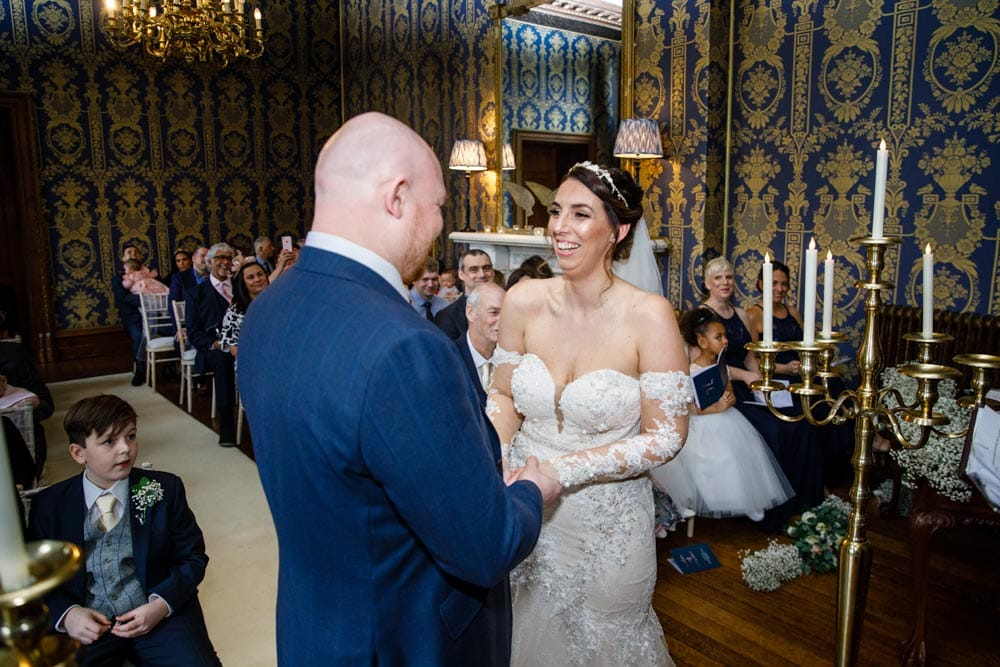 getting married in the blue room at soughton hall