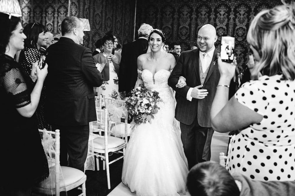just married at soughton hall