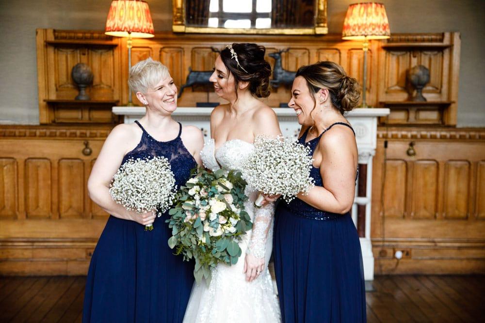 bridesmaids at soughton hall