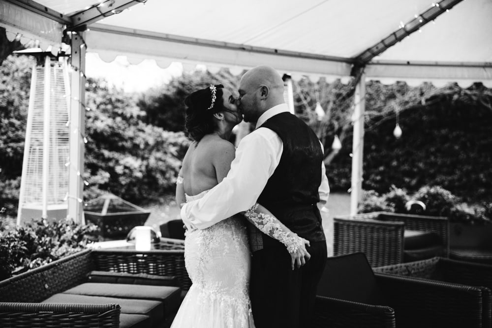 bride and groom moment at soughton hall
