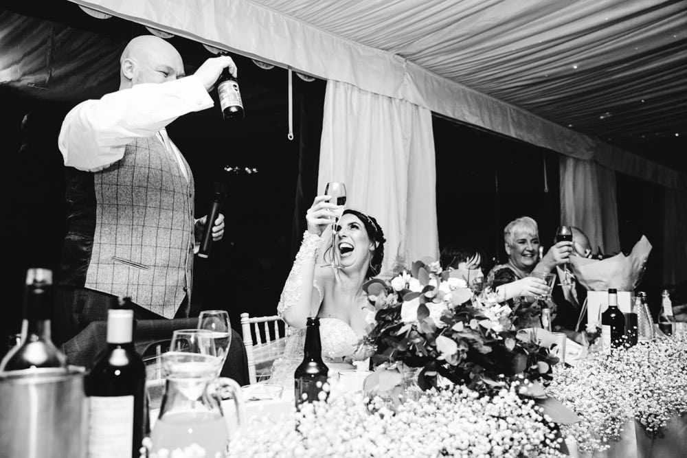 grooms toast at soughton hall