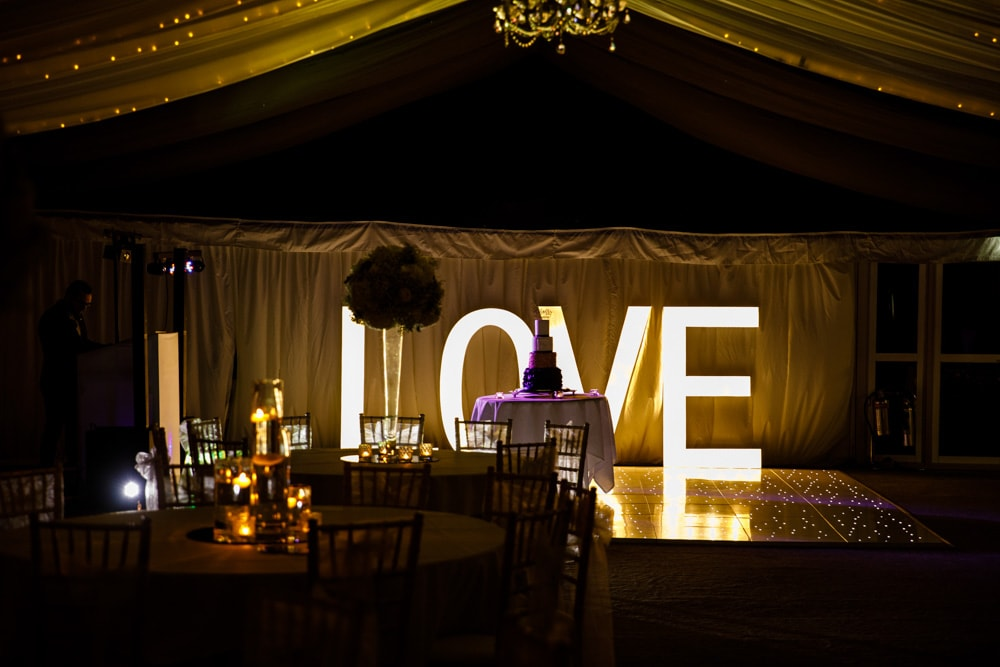 love light up letters at soughton hall