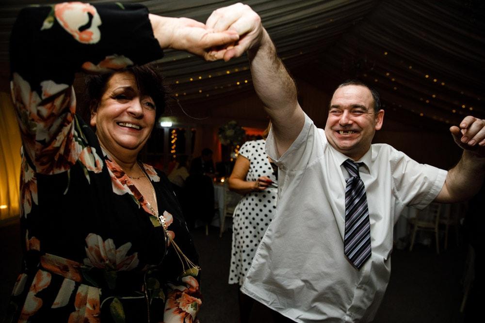 guests dancing at soughton hall