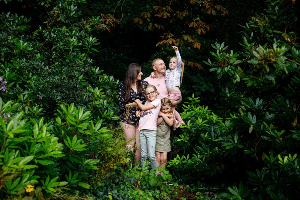 family having a great time on their family photoshoot in worsley