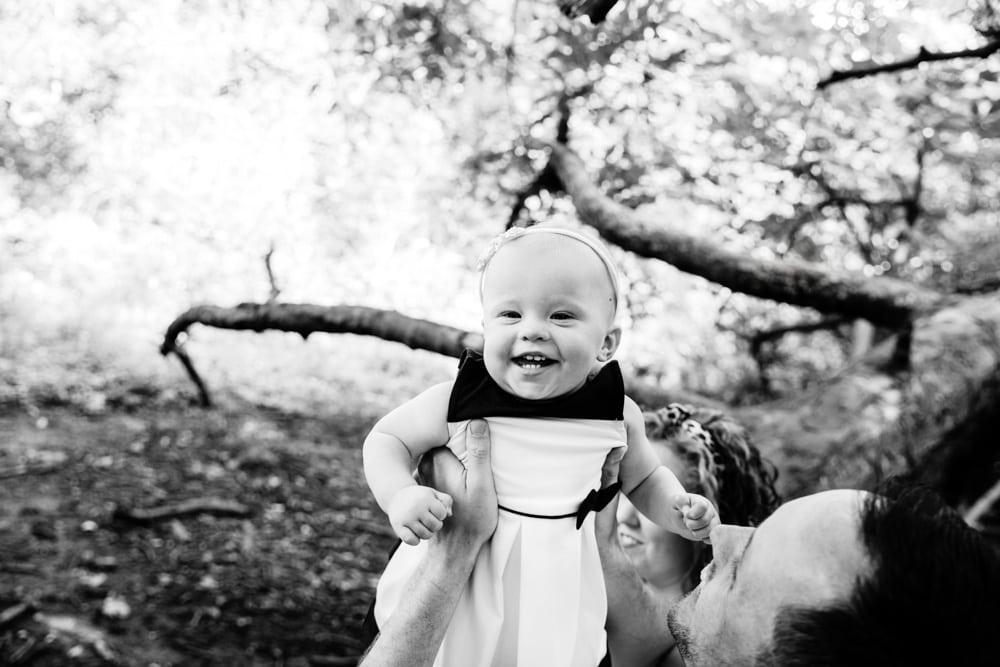 baby enjoying her photoshoot