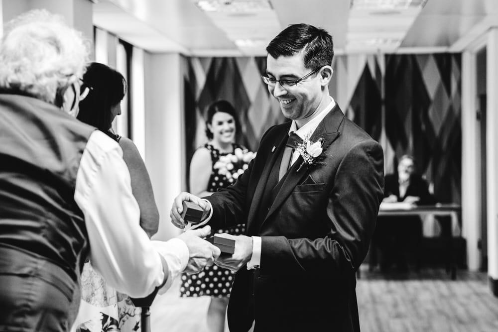 wedding at Heron House Registry Office