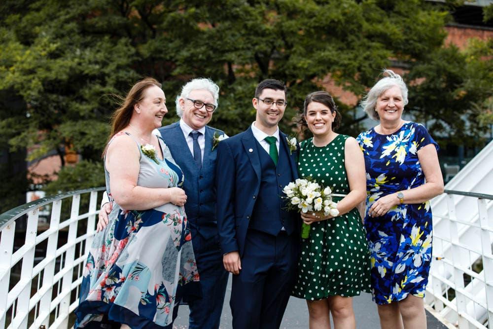 eleopment wedding in manchester confetti in castlefield