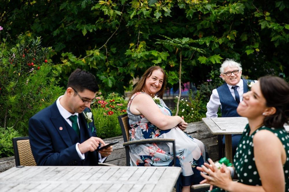 family gathering in castlefield