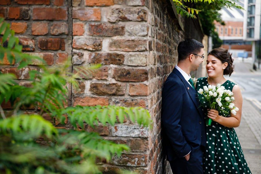 Heron House Registry Office bride and groo