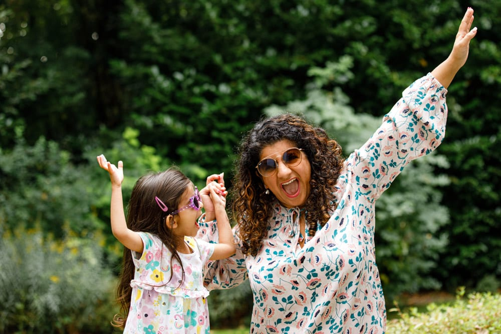 mum and daughter having fun