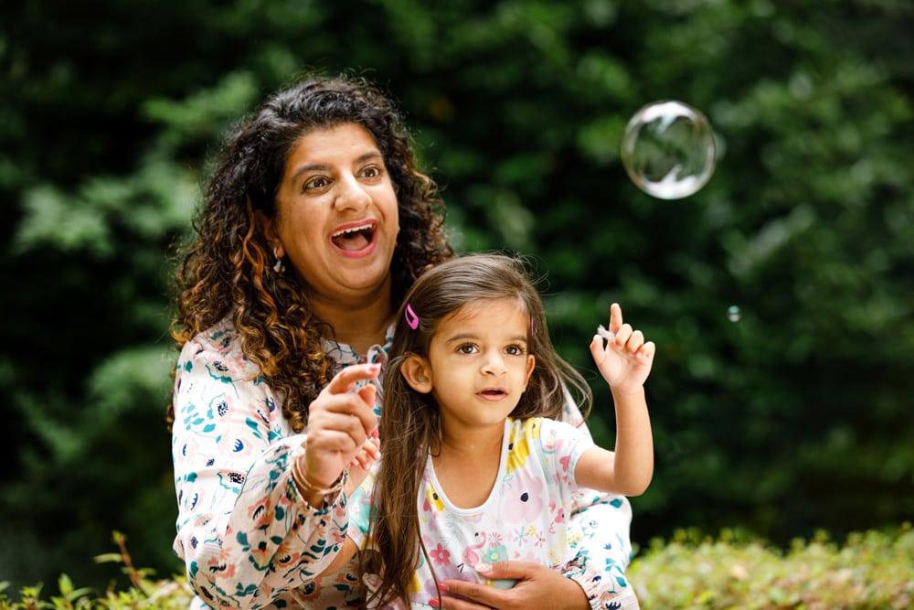 bubbles in a garden in worsley