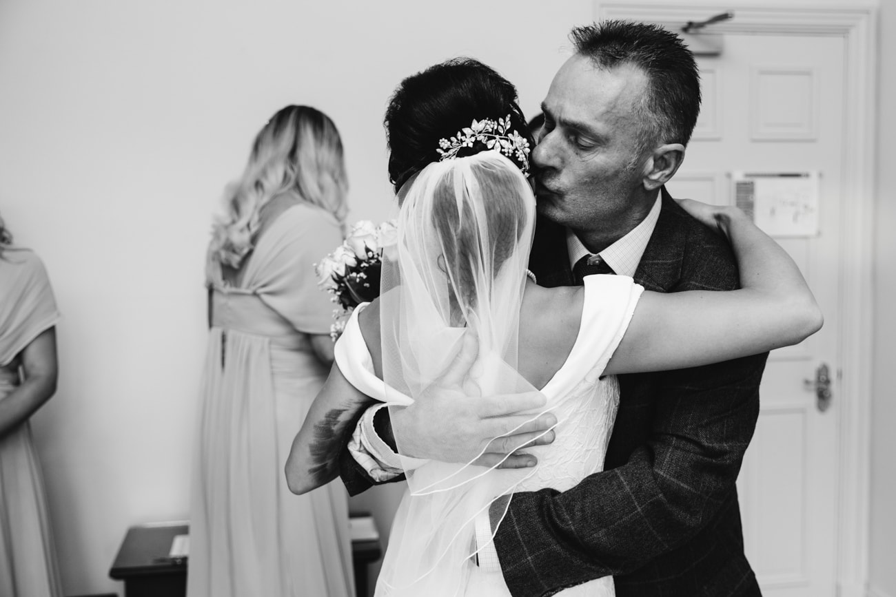 bride and father inglewood manor