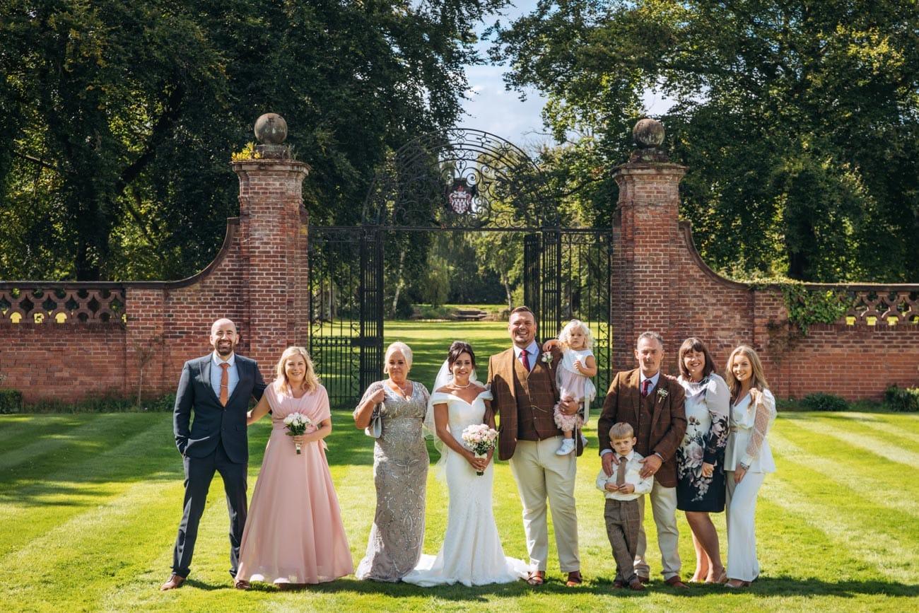 family photo at inglewood manor