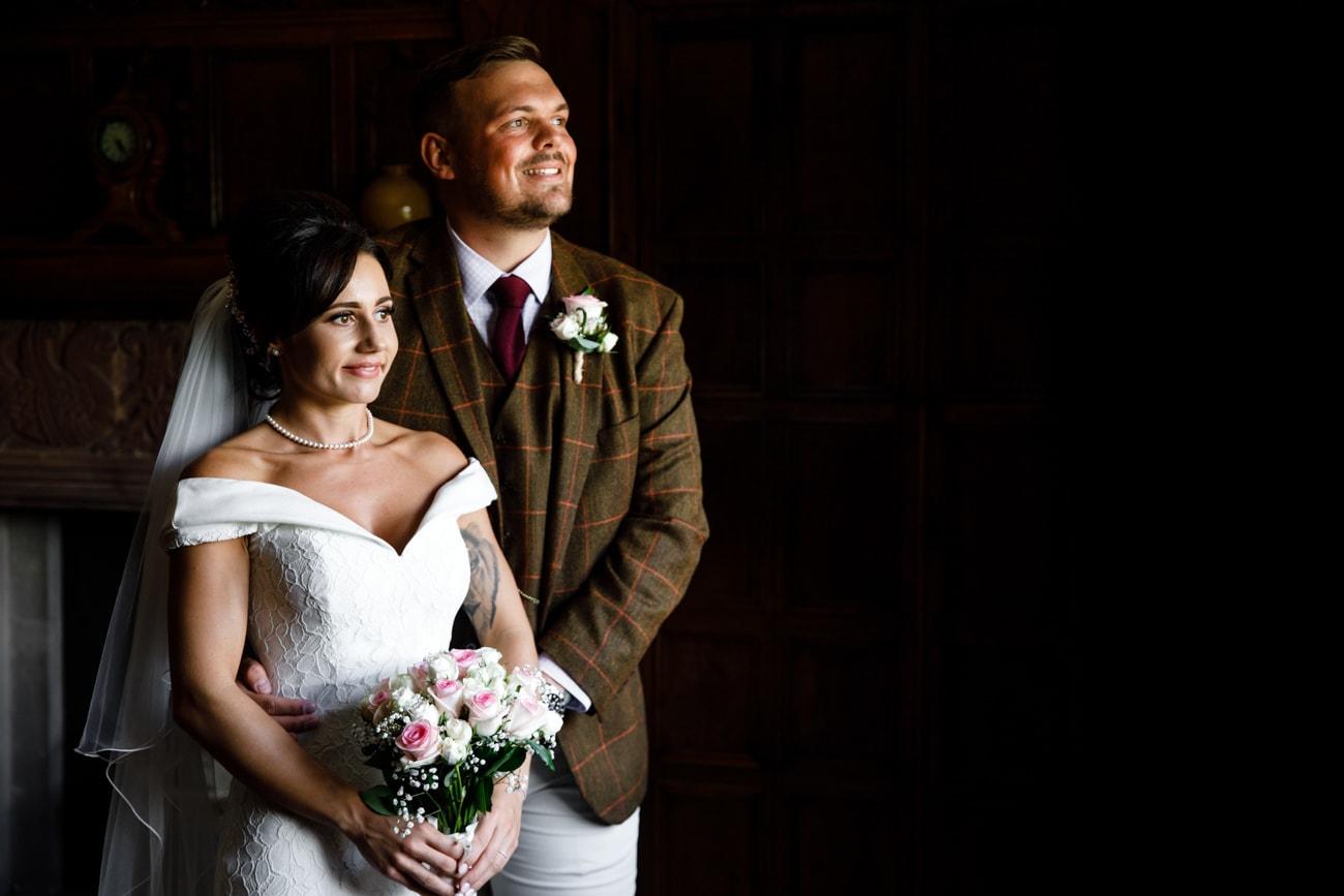 bride and groom portrait at inglewood manor
