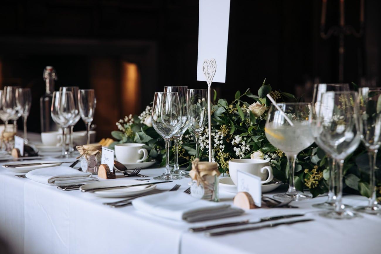 wedding reception decor at inglewood manor