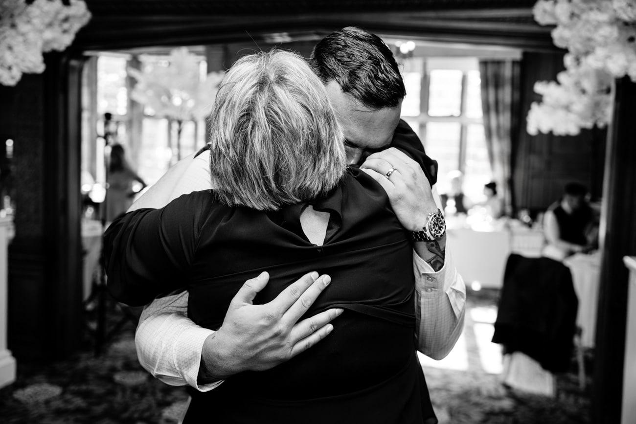 inglewood manor wedding hugs
