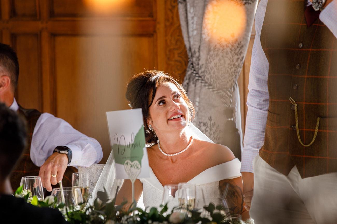 inglewood manor bride during speeches