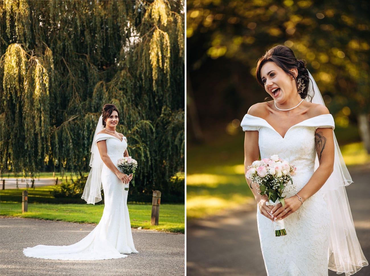bride having fun at inglewood manor