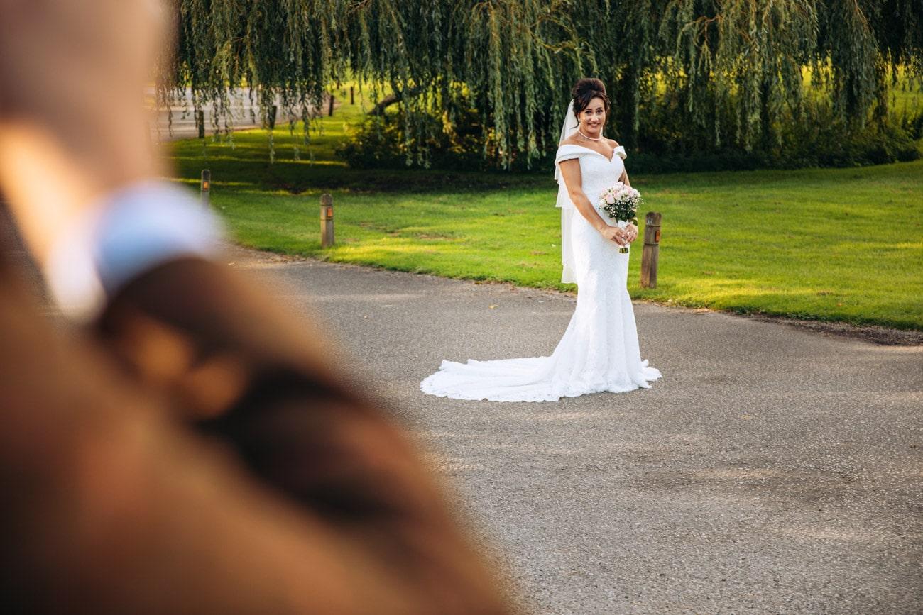 bride and groom having fun at inglewood manor