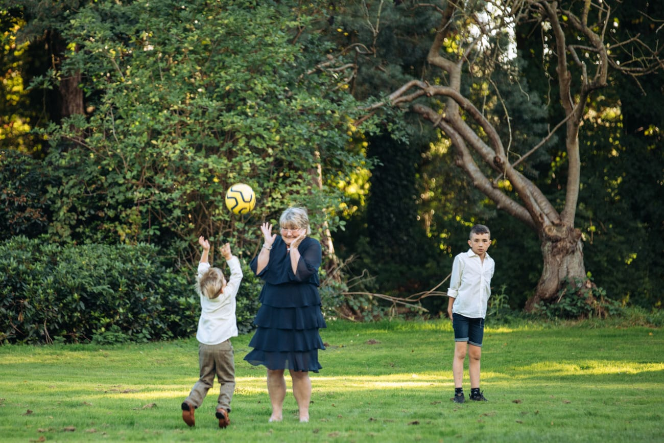 kids with gran at inglewood manor
