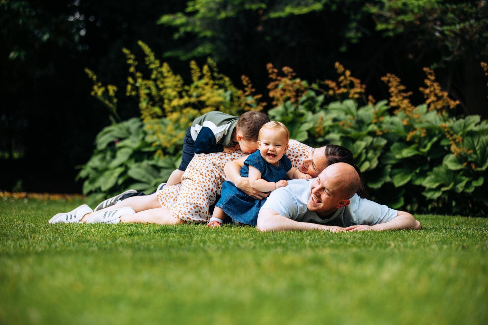 Family having fun on photoshoot