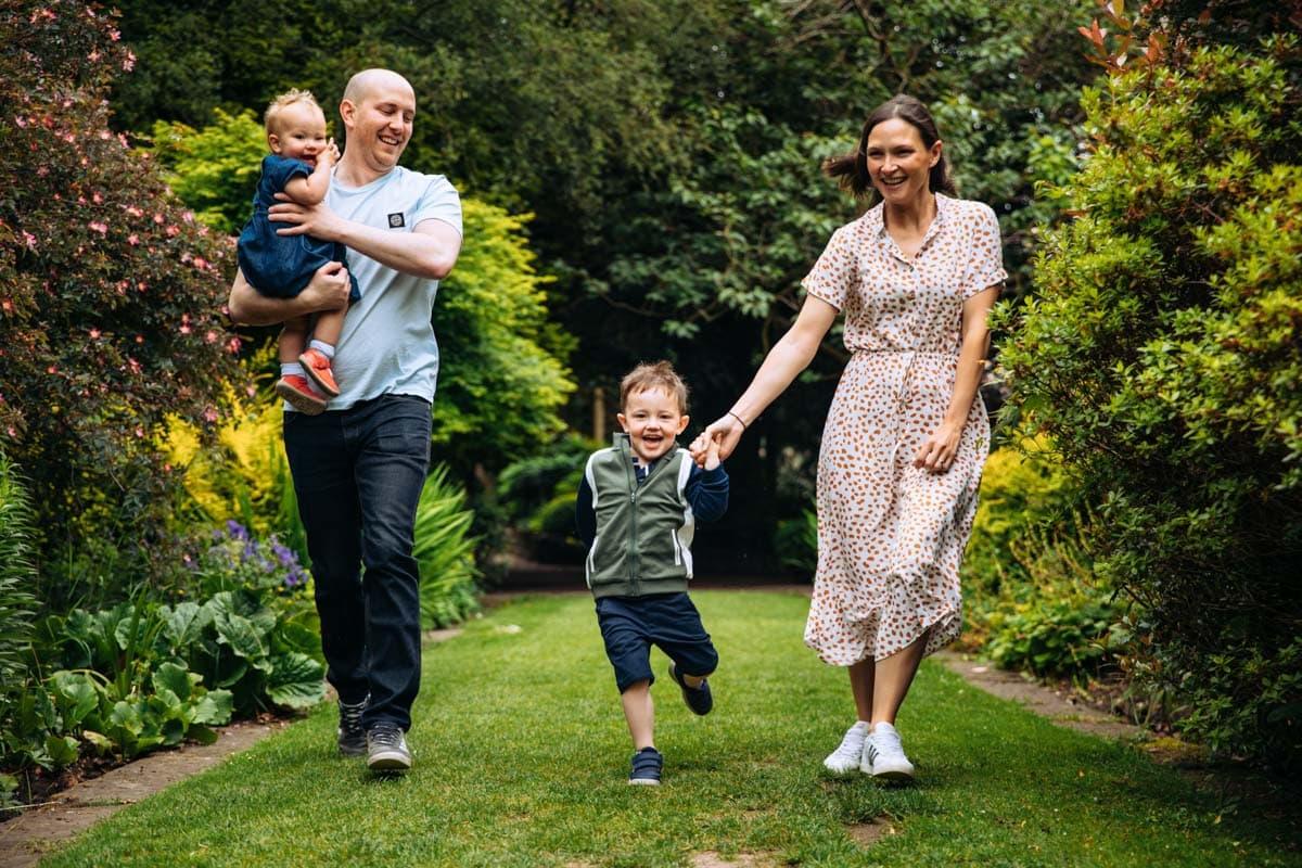 Family fun on photoshoot
