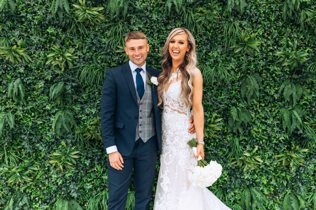 Albert's Standish bride and groom at wedding