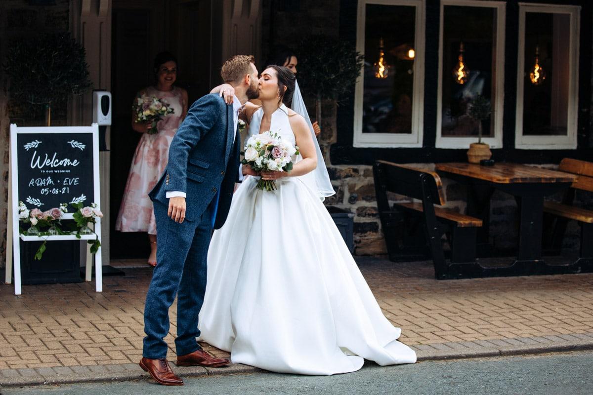 The woodman inn wedding day