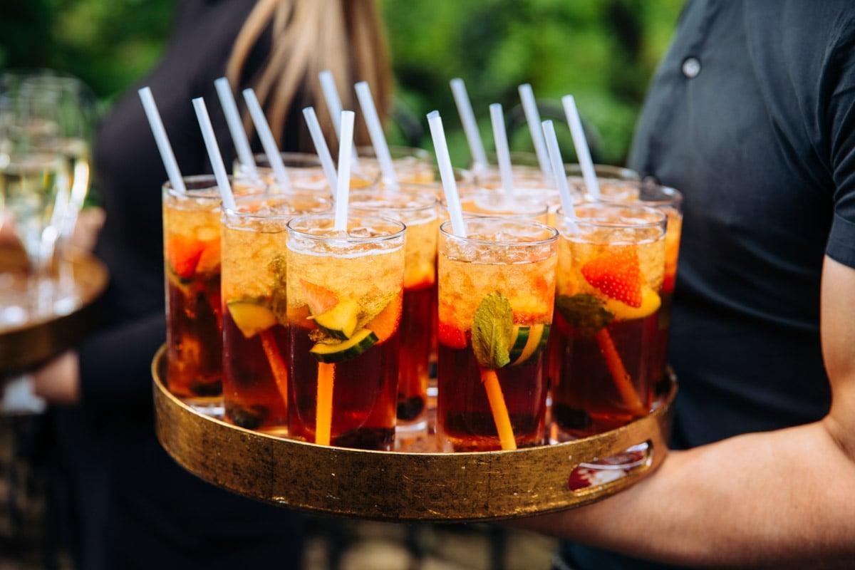 drinks at the woodman inn