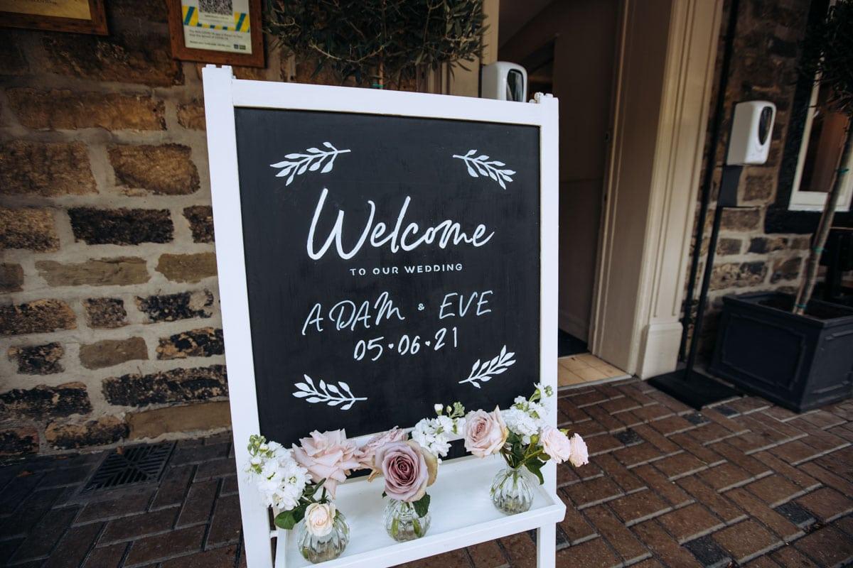 adam & eve's wedding at the woodman inn